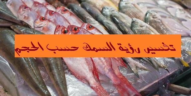 تفسير رؤية السمك حسب الحجم