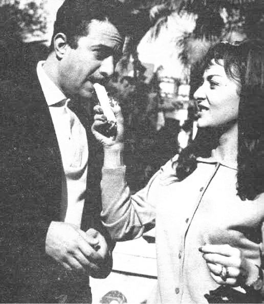 يوسف شعبان وزوجته ليلي طاهر