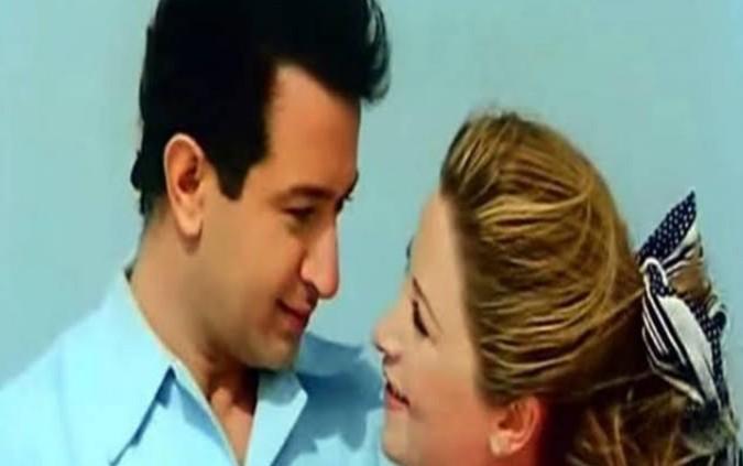 نور الشريف وبوسي في فيلم حبيبي دائما